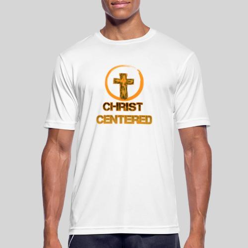 Christ Centered Focus on Jesus - Männer T-Shirt atmungsaktiv