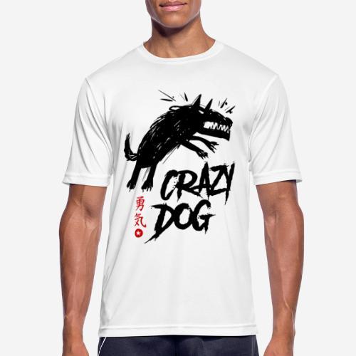 verrückter verrückter Hund - Männer T-Shirt atmungsaktiv