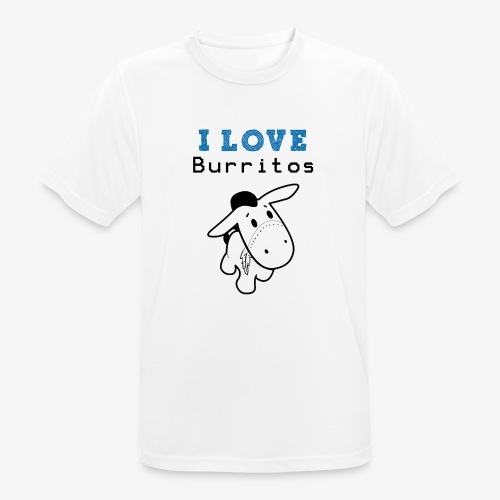 I Love Burritos - Camiseta hombre transpirable
