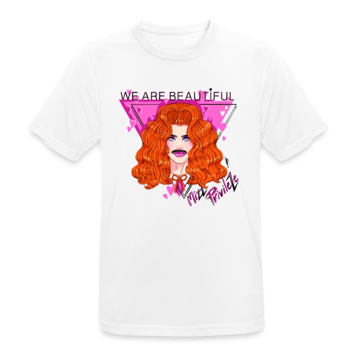 WE ARE BEAUTIFUL - Herre T-shirt svedtransporterende