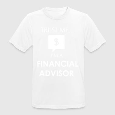 finansiel rådgiver - Herre T-shirt svedtransporterende