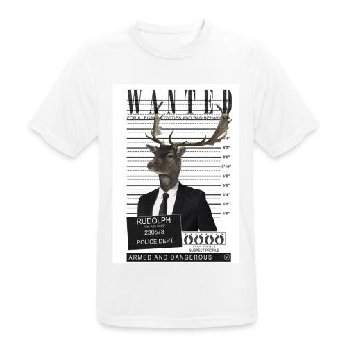 Rudolph wanted - miesten tekninen t-paita