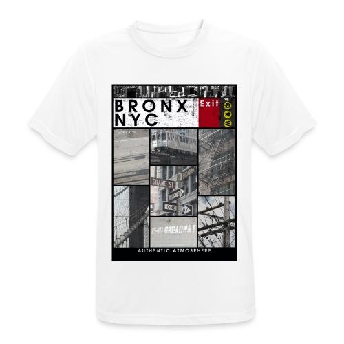 Bronx Nyc - miesten tekninen t-paita
