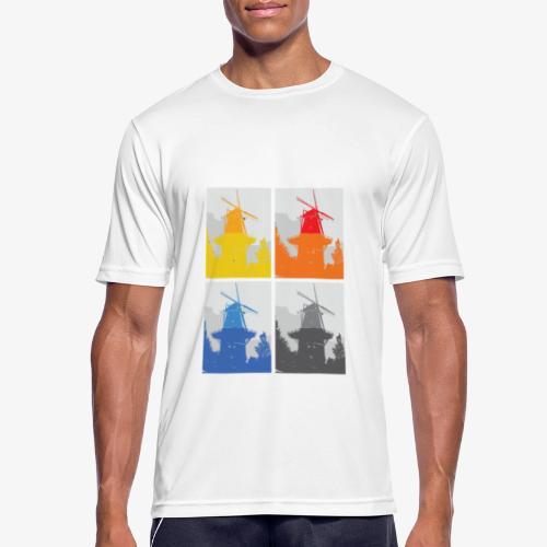 Mills - Maglietta da uomo traspirante