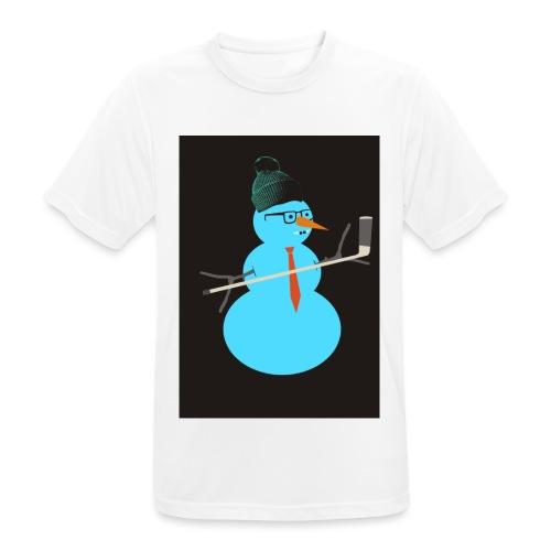 Hockey snowman - miesten tekninen t-paita