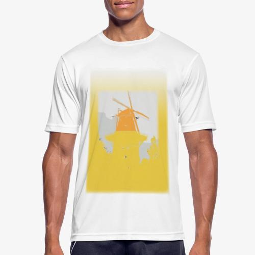 Mills yellow - Maglietta da uomo traspirante