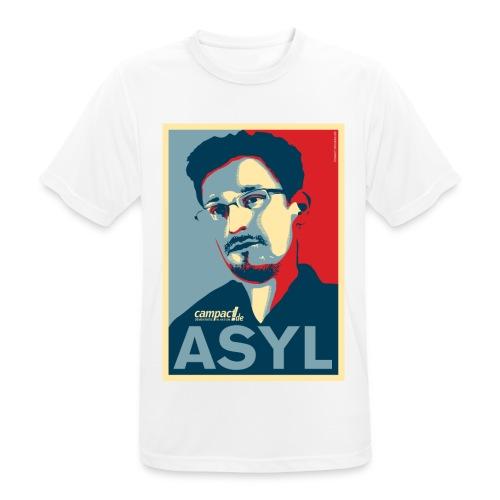Asyl für Edward Snowden - Männer T-Shirt atmungsaktiv