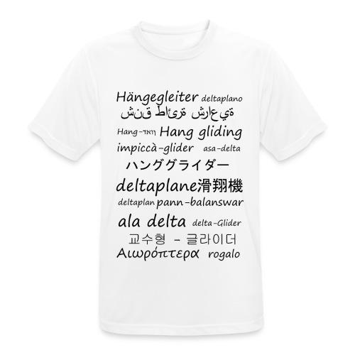 deltaplane en plusieurs langues - T-shirt respirant Homme