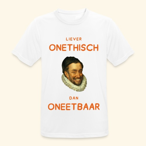 Liever onethisch dan oneetbaar - Mannen T-shirt ademend actief