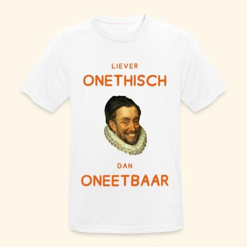 Liever onethisch dan oneetbaar - mannen T-shirt ademend