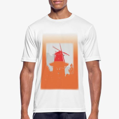 Mills orange - Maglietta da uomo traspirante