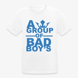 Bad boys blauw1 1 - mannen T-shirt ademend