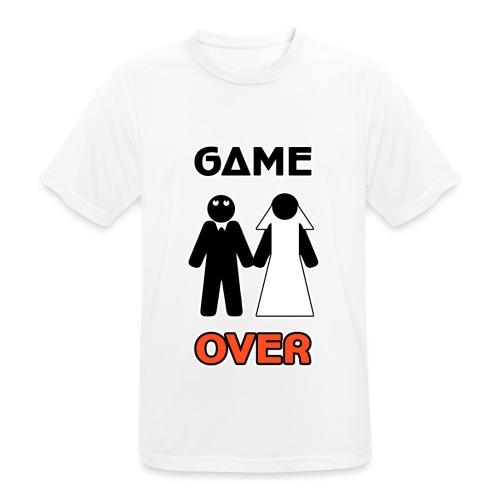 Addio al Celibato - Game Over - Maglietta da uomo traspirante