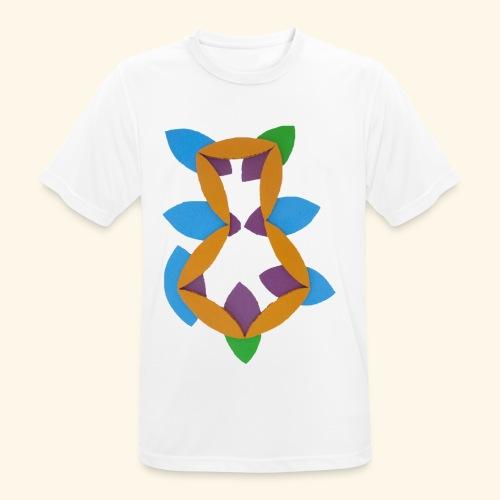 oranjeblanjebleu - Mannen T-shirt ademend actief