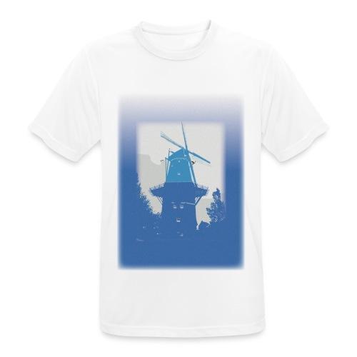 Mills blue - Koszulka męska oddychająca