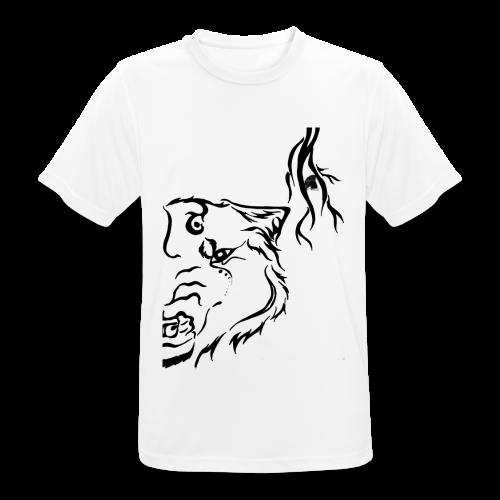 Black Wolf Thunder - Männer T-Shirt atmungsaktiv