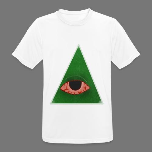 illuminati eye - Camiseta hombre transpirable