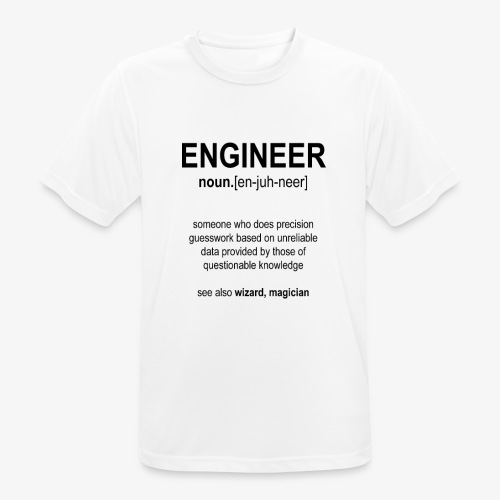 Engineer Def. 1 (Black) - T-shirt respirant Homme