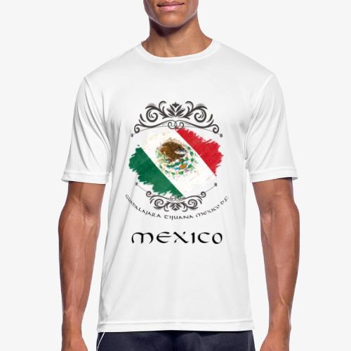 Mexico Vintage Bandera - Männer T-Shirt atmungsaktiv