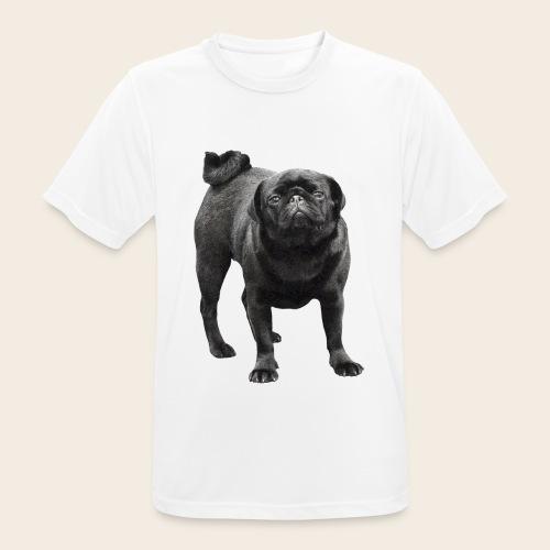 schwarzer Mops - Männer T-Shirt atmungsaktiv