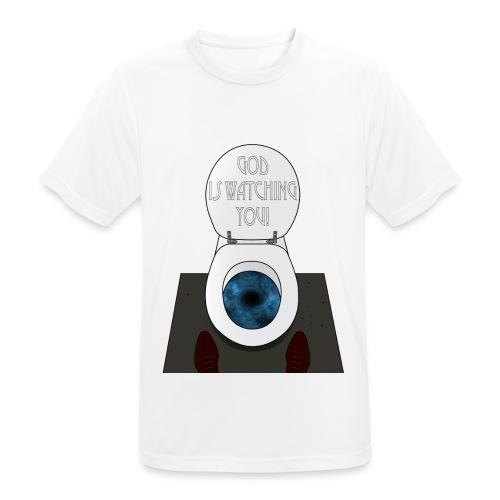 God is watching you! - Maglietta da uomo traspirante
