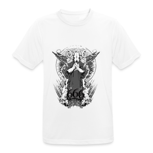Metalliluola logo ja Demoniac 666 - miesten tekninen t-paita