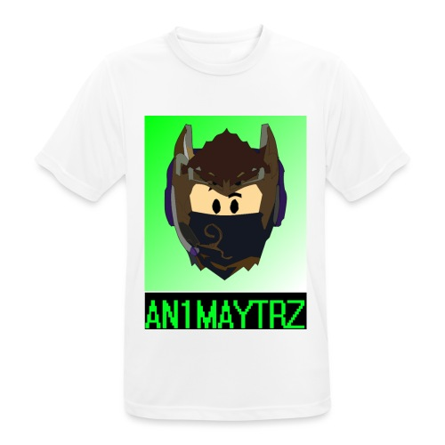 AN1MAYTRZ logo + title - Men's Breathable T-Shirt