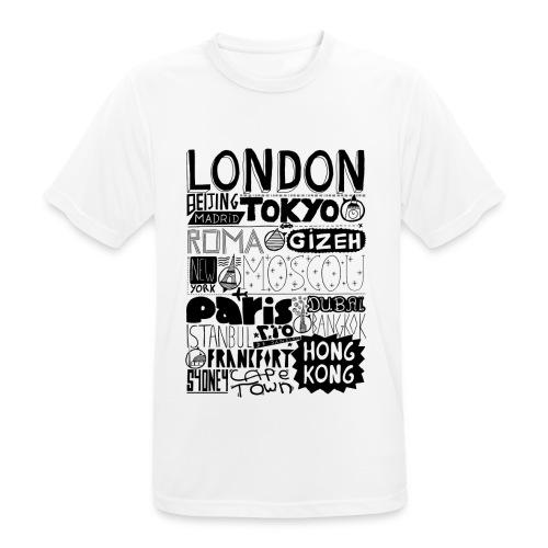 Villes du monde - T-shirt respirant Homme