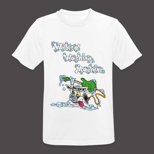 Wicked Washing Machine Cartoon and Logo - Mannen T-shirt ademend actief