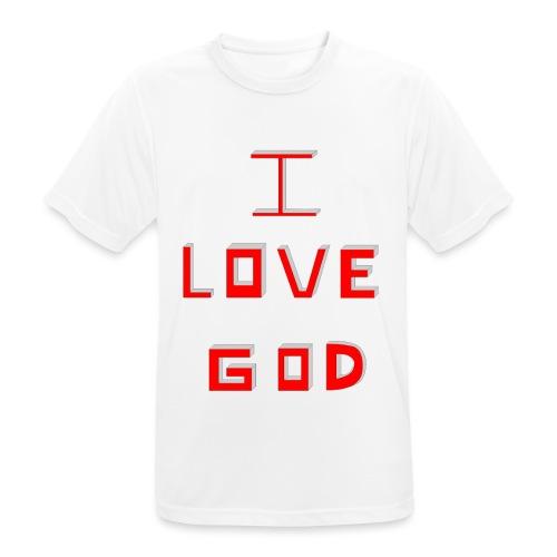 I LOVE GOD - Camiseta hombre transpirable