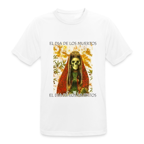 El Dia De Los Muertos Skeleton Design - Men's Breathable T-Shirt
