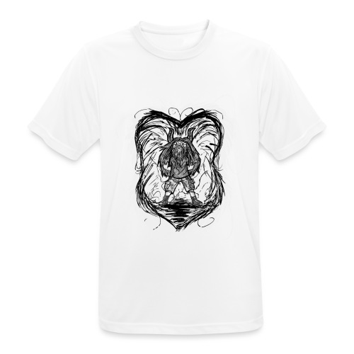 Horned Metalhead - Men's Breathable T-Shirt