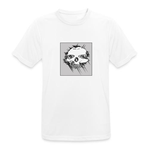 calavera gris - Camiseta hombre transpirable