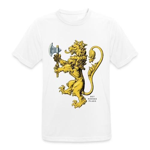 Den norske løve i gammel versjon - Pustende T-skjorte for menn