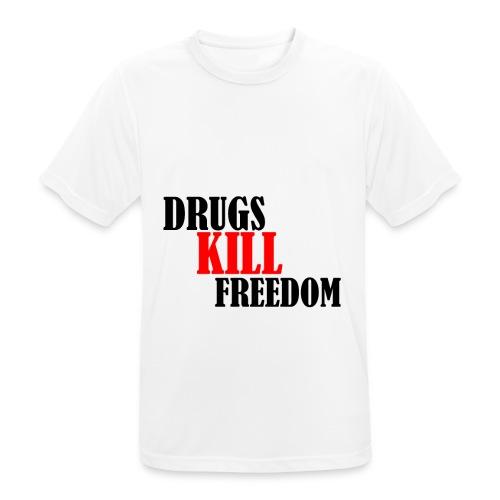 Drugs KILL FREEDOM! - Koszulka męska oddychająca