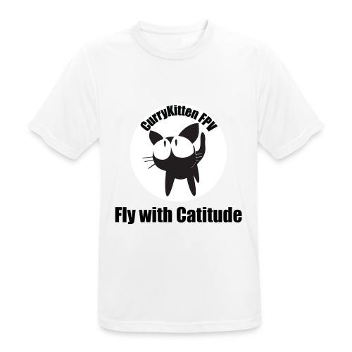 CurryKitten Logo - Fly with Catitude - Men's Breathable T-Shirt