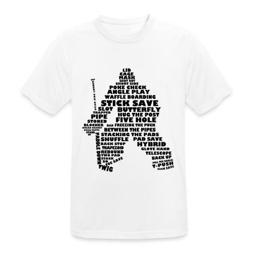 Language of Hockey (Goalie version, black print) - Men's Breathable T-Shirt