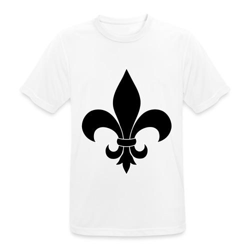 ranskan lilja - miesten tekninen t-paita