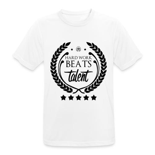 HARD WORK BEATS TALENT - Koszulka męska oddychająca