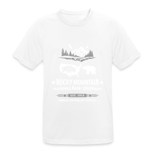 Rocky Mountain Nationalpark Berg Bison Grizzly Bär - Men's Breathable T-Shirt