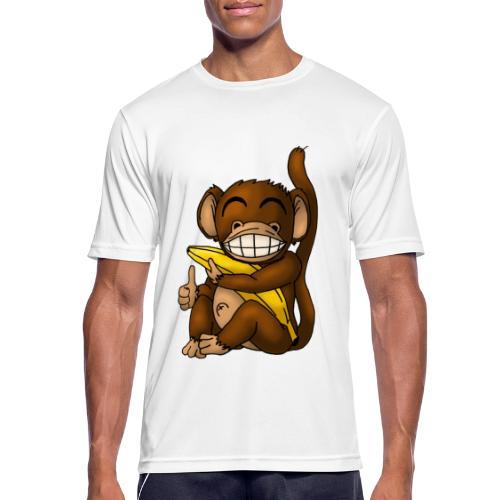 Super Fröhlicher Affe - Männer T-Shirt atmungsaktiv
