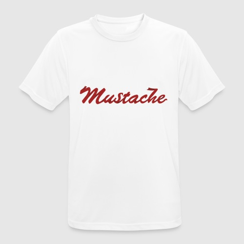 Red Mustache Lettering - Men's Breathable T-Shirt