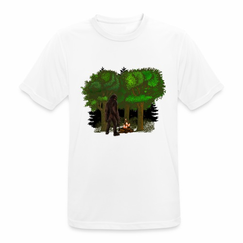 Bigfoot Campfire Forest - Men's Breathable T-Shirt