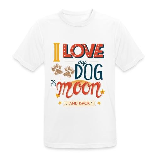 Moon Dog Light - Andningsaktiv T-shirt herr