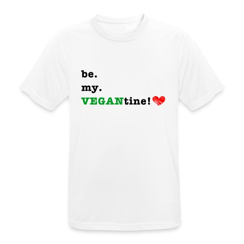 VEGANtine Green - Men's Breathable T-Shirt