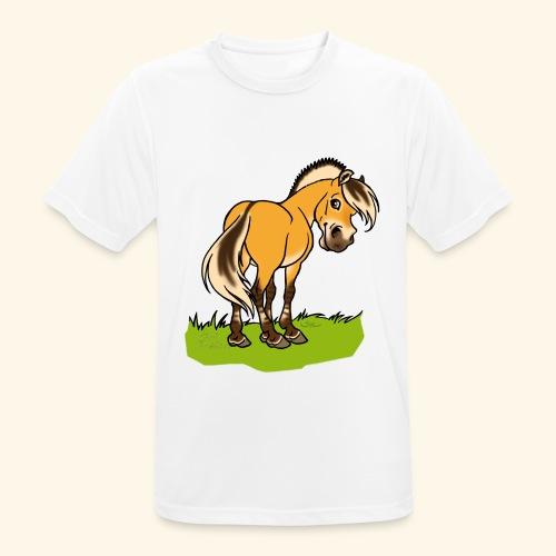 Freundliches Fjordpferd (Ohne Text) Weisse Umrisse - T-shirt respirant Homme