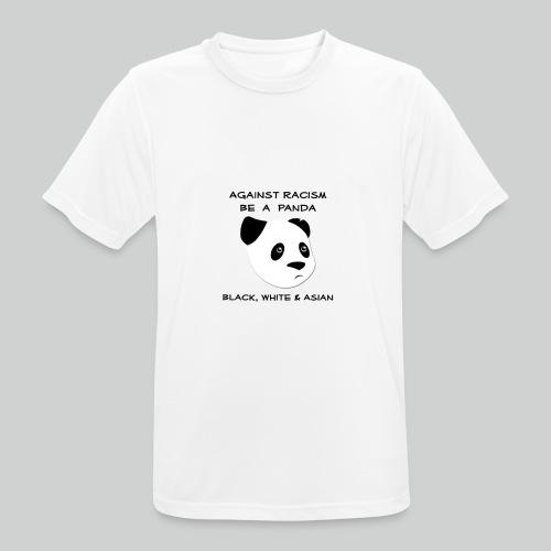 Against Racism Panda - Männer T-Shirt atmungsaktiv