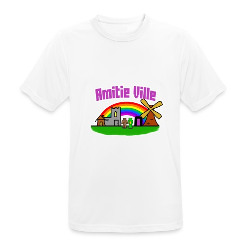 Amitie Ville Logo Shirt - Men's Breathable T-Shirt