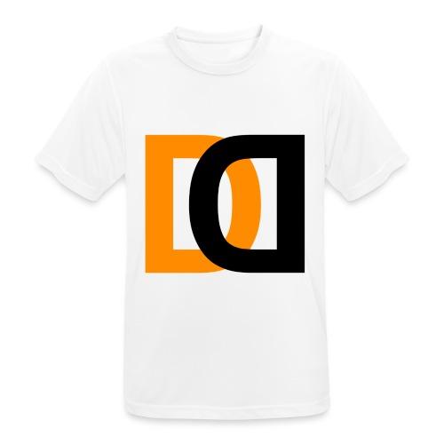 Dutch Driveclub logo oranje zwart transparante ach - Mannen T-shirt ademend actief