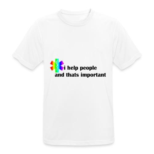 i help people - Mannen T-shirt ademend actief